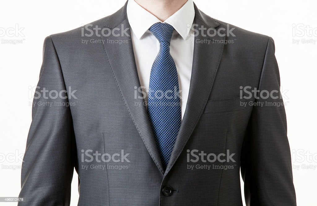 Unrecognizable businessman in a classical suit stock photo