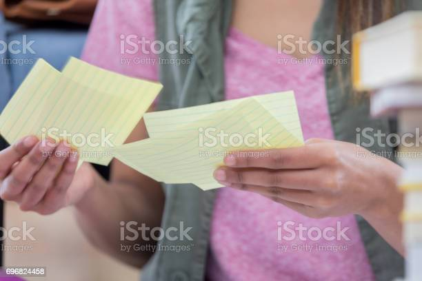 Unrecognizable college student uses notecards picture id696824458?b=1&k=6&m=696824458&s=612x612&h=a2pwo3fyam61wj4l5ytjs4ezw qm6qklwbh7zktt3ba=