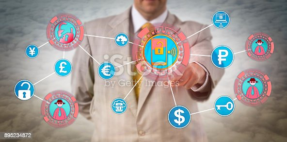 1008108222 istock photo Unrecognizable Manager Paying Ransom To Hackers 895234872