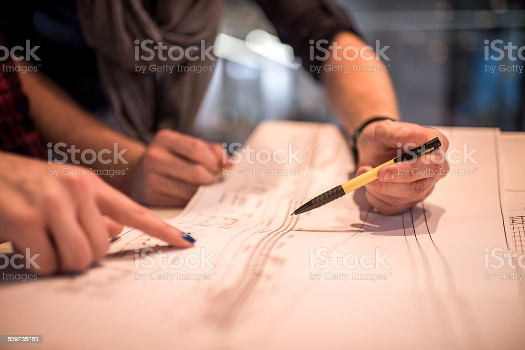 Unrecognizable people planning a new project. royalty-free stock photo