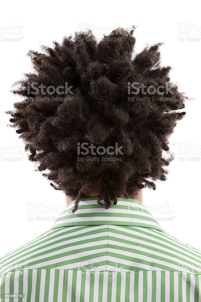 Unrecognizable person with afro hair royalty-free stock photo