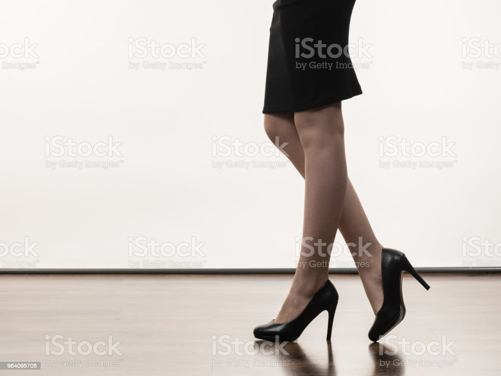 Unrecognizable woman wearing high heels - Royalty-free Black Color Stock Photo
