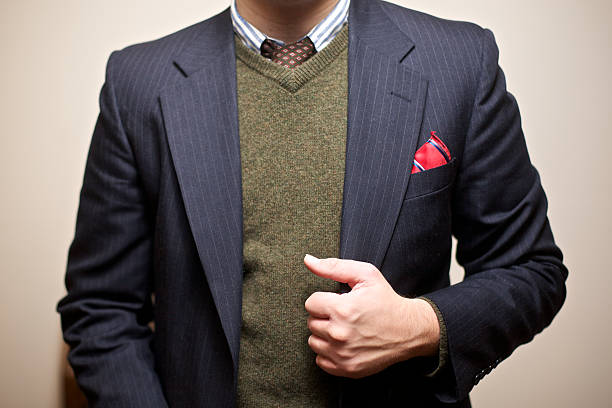 unrecognizable young gentleman in fashionable attire - menswear stock photos and pictures