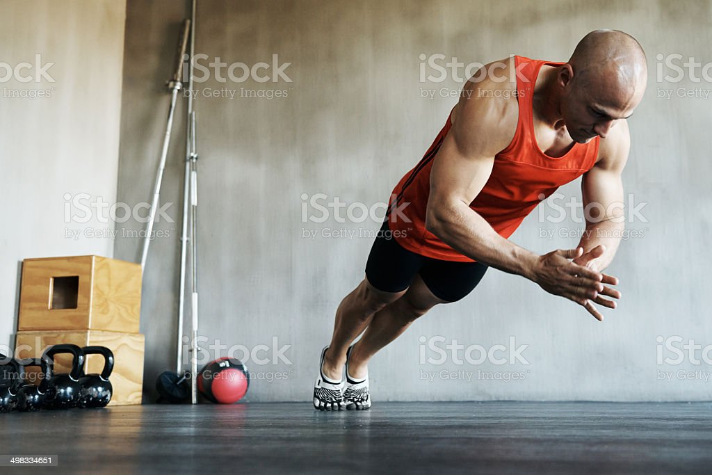 Unrelenting pursuit for a fit body royalty-free stock photo