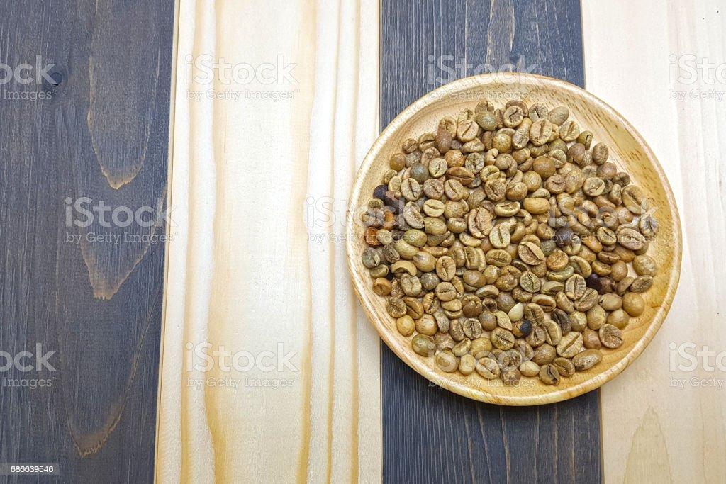 Unroasted grano de café foto de stock libre de derechos