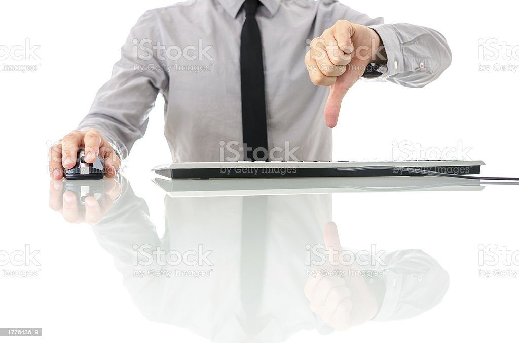 Unsatisfied businessman royalty-free stock photo