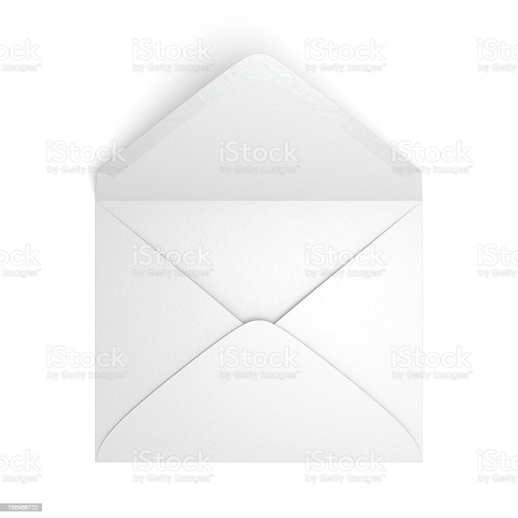 Unsealed Envelope stock photo