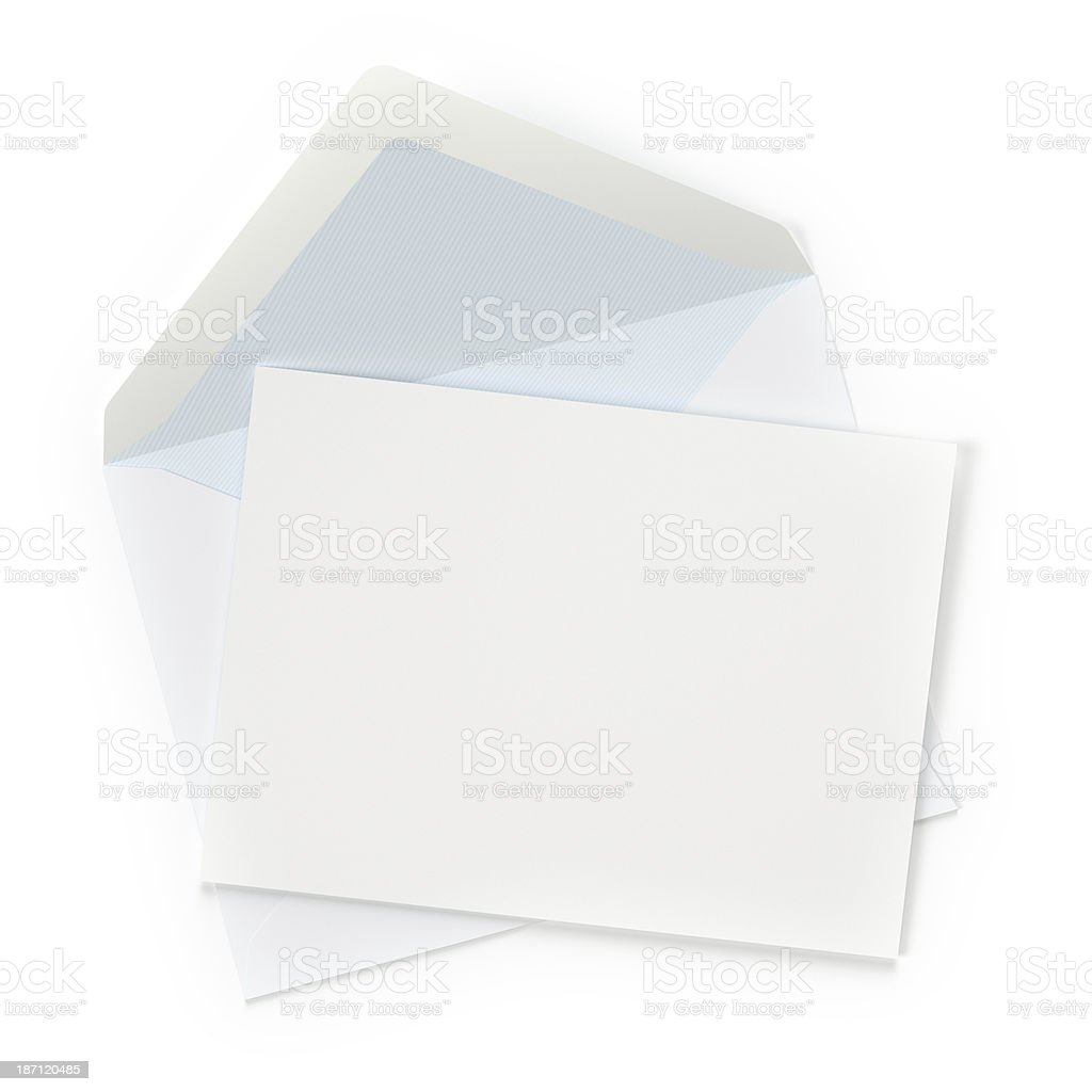 Unsealed Letter stock photo