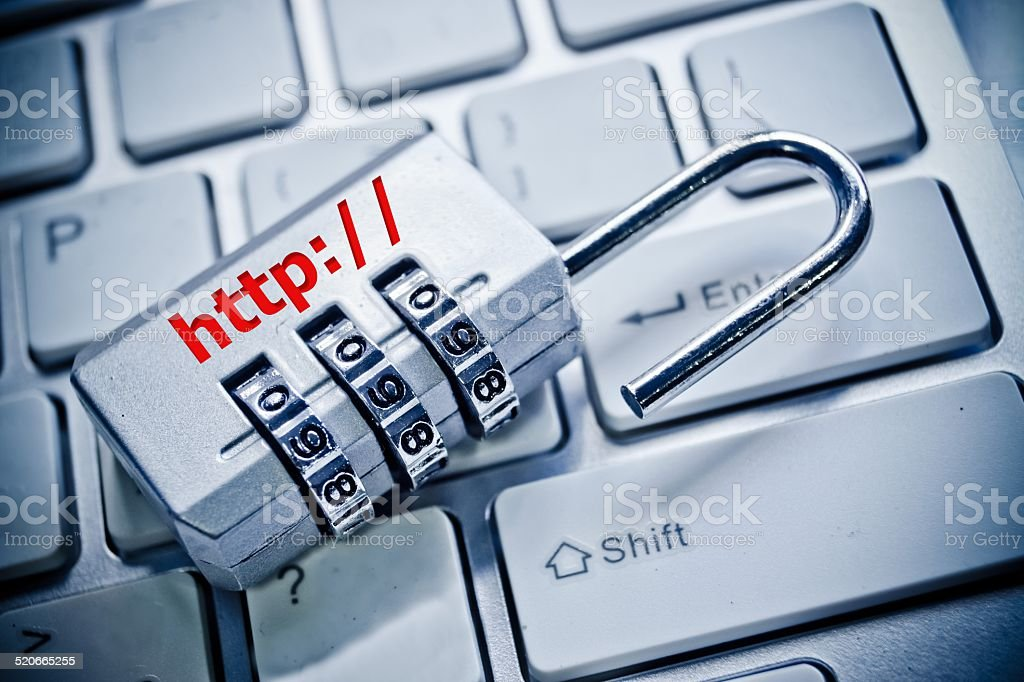 unsecured http stock photo