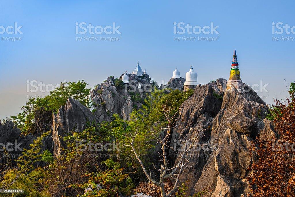Unseen pagoda royalty-free stock photo