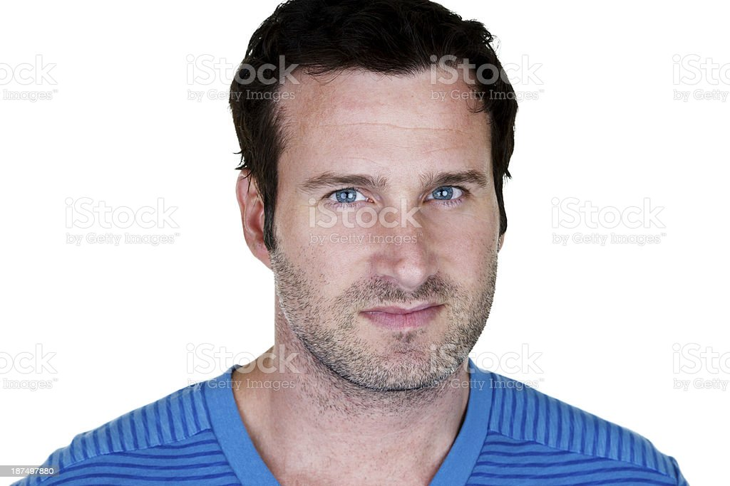 Unshaven man royalty-free stock photo