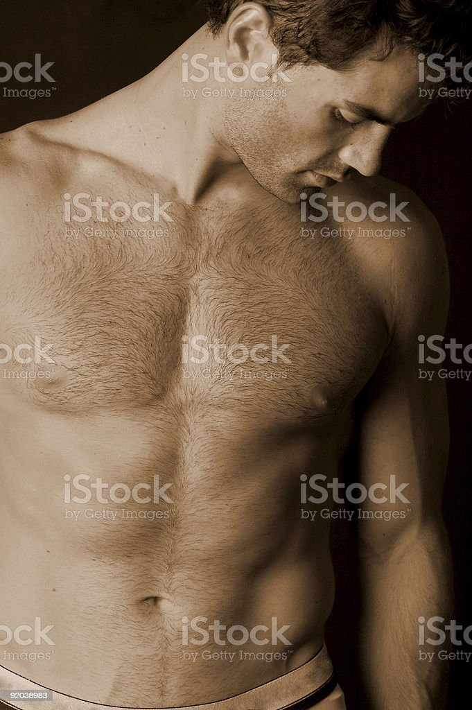 Unshaven stock photo