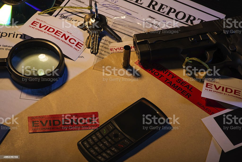 Unsolved murder case stock photo