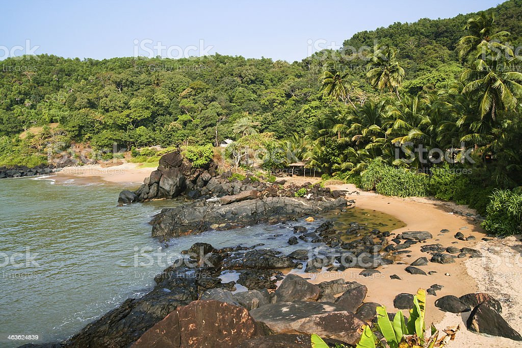 Unspoiled small paradise beach in india royalty-free stock photo