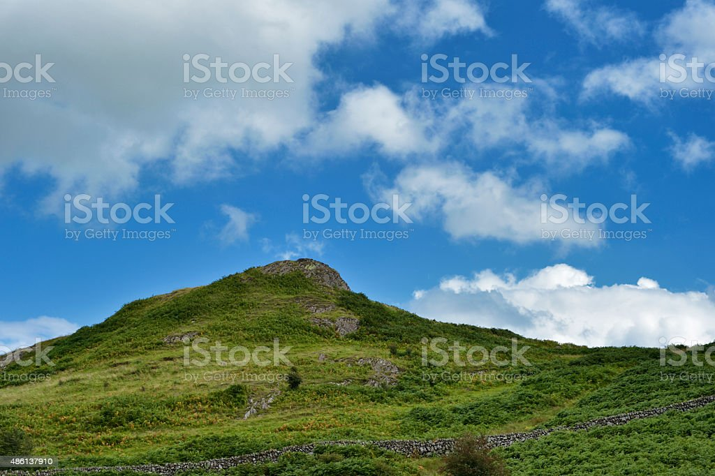 Unspoilt Scottish countryside in Dumfries and Galloway in summer stock photo