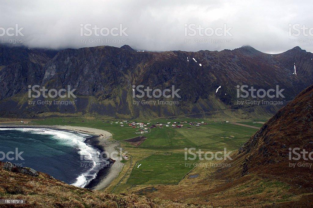 Unstad valley stock photo