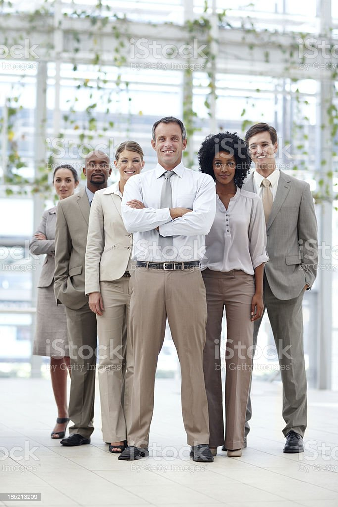 Unstoppable business force royalty-free stock photo
