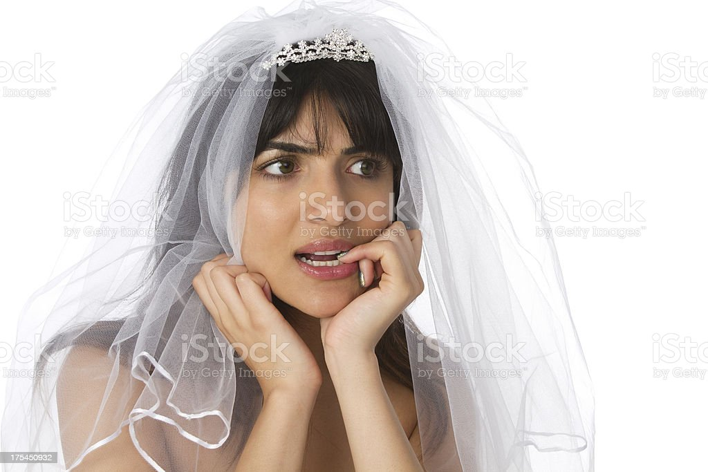 unsure bride royalty-free stock photo