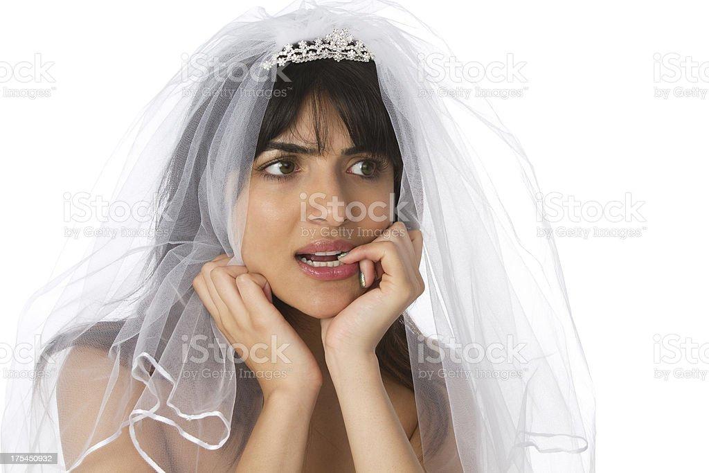 unsure bride stock photo