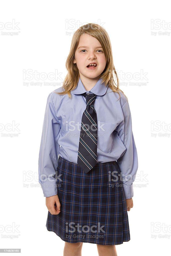 Unsure School Girl royalty-free stock photo