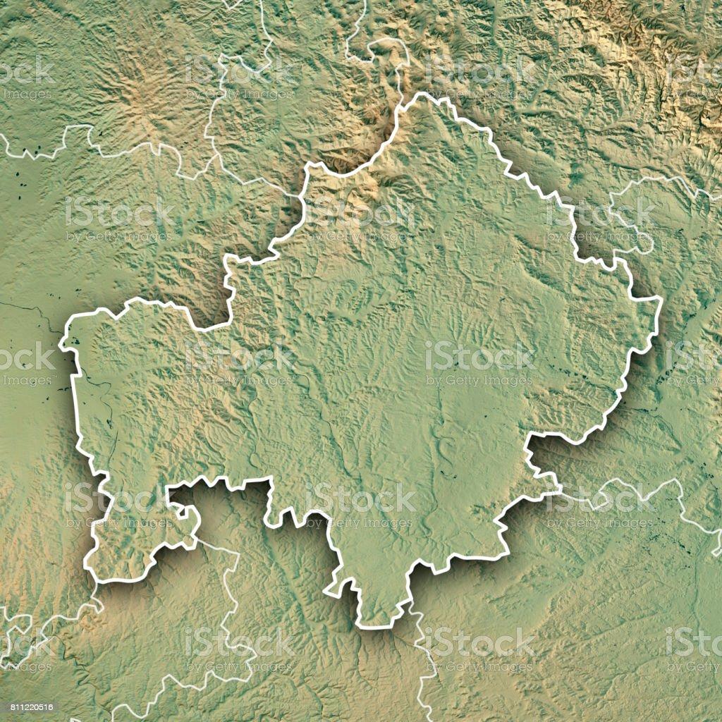 Unterfranken Karte.Unterfranken Regierungsbezirk Bayern 3d Render Topographische Karte