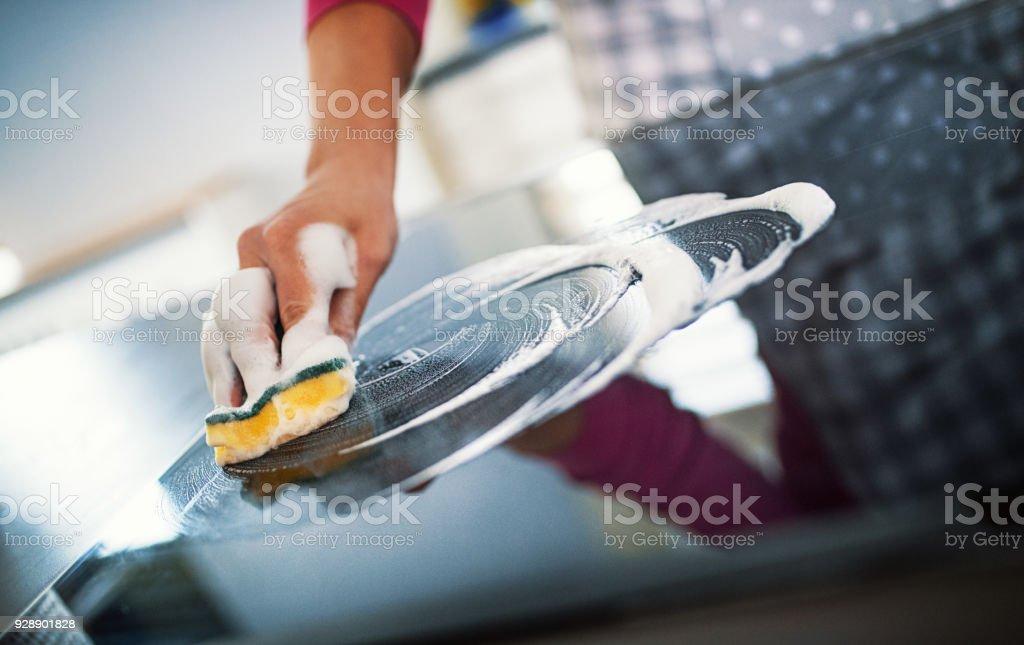 Untidy Kitchen stock photo
