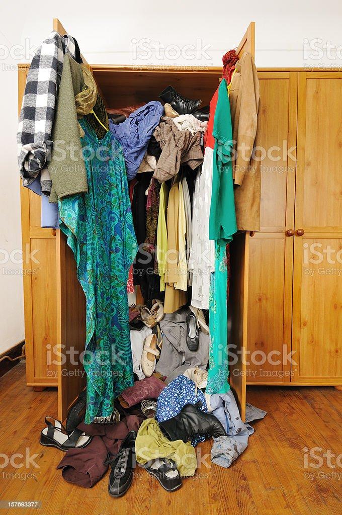 Untidy wardrobe  Closet Stock Photo