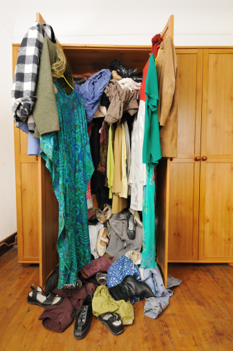 Untidy Wardrobe Stock Photo - Download Image Now