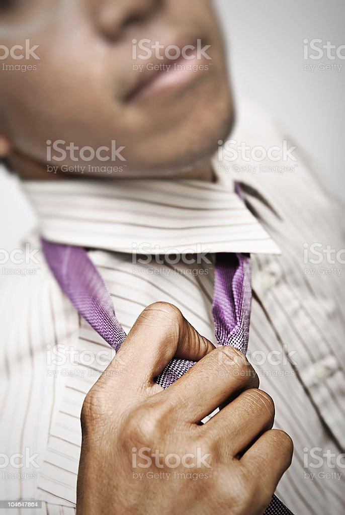 untie the tie stock photo