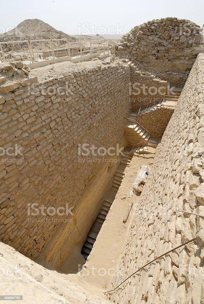 untombed ruin near the pyramids in egypt royalty-free stock photo