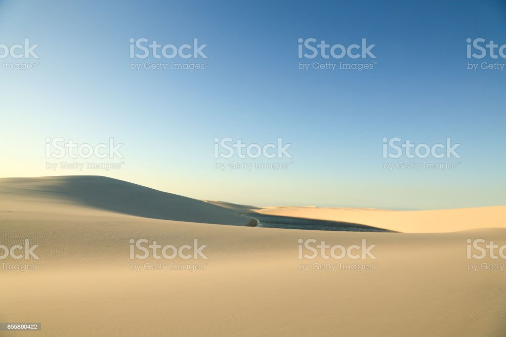 Untouched sands of the Maranhenses sheets stock photo