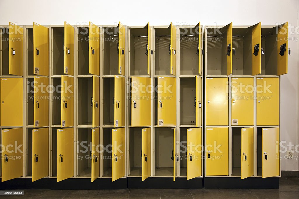 Unused Lockers stock photo