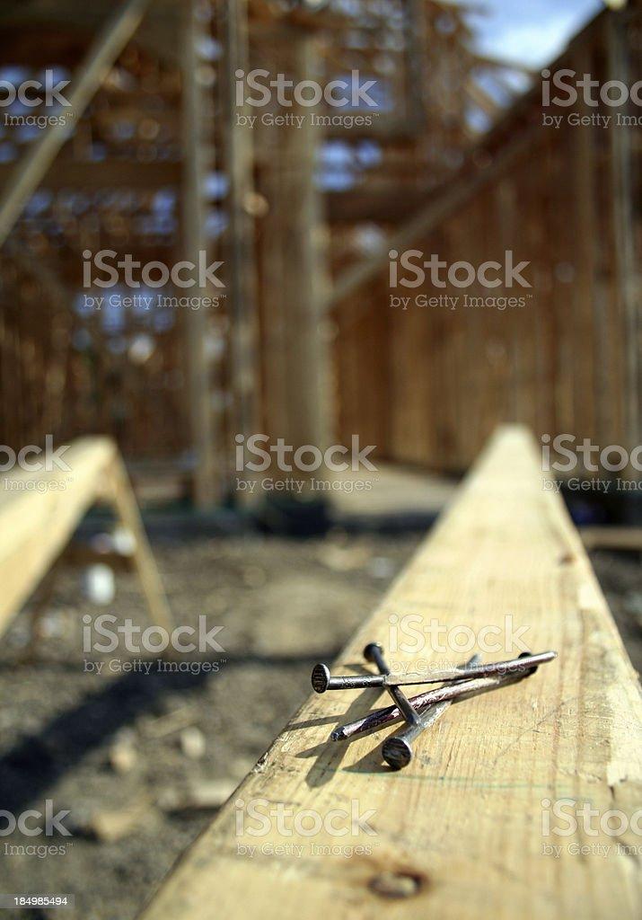 Unused Nails at Construction royalty-free stock photo