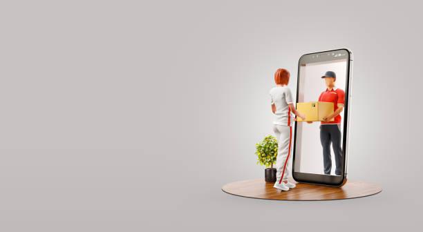 inusual aplicación de teléfono inteligente ilustración 3d - website design fotografías e imágenes de stock