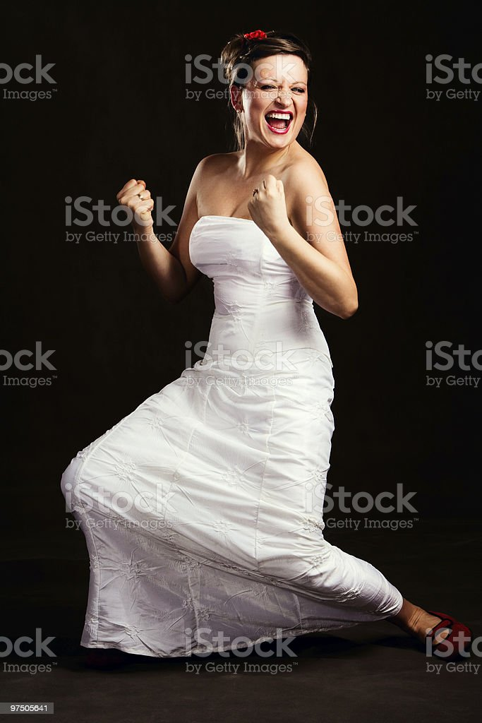 unusual bride royalty-free stock photo
