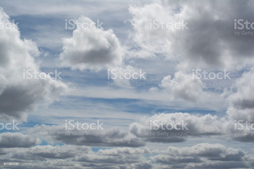 Unusual Cloud Formations, Murraylands, South Australia stock photo
