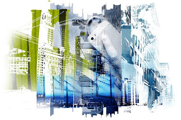 Unusual concept of modern business world. Photography digitally - foto de stock