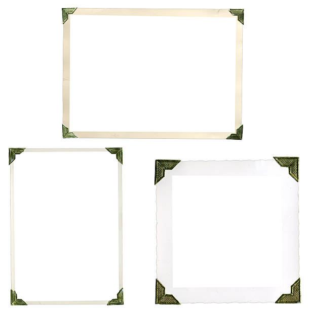 unusual frames corners from the earlies days of photography - photo corner stock photos and pictures