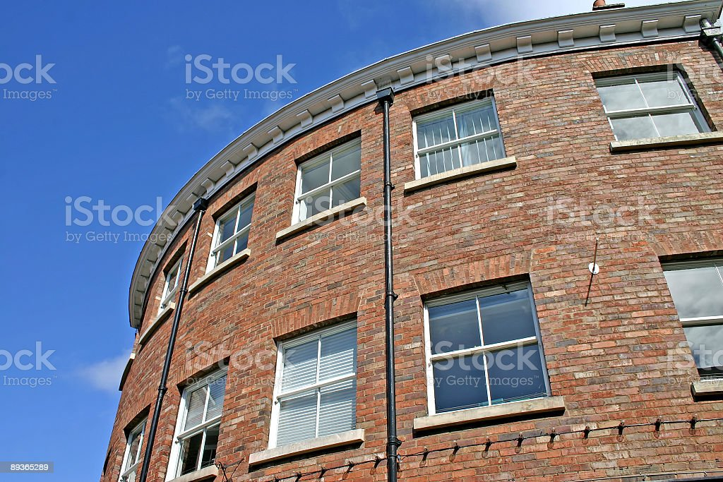 Unusual Rounded Building in York royalty-free stock photo