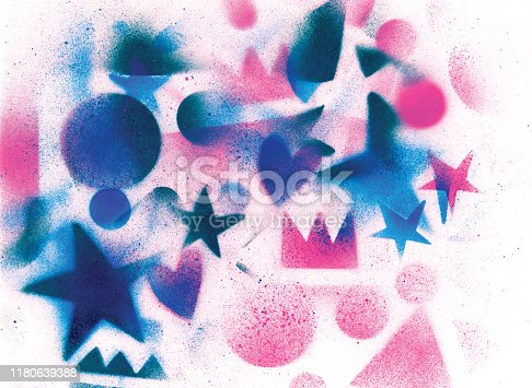 815224118 istock photo unusual space abstract background 1180639388
