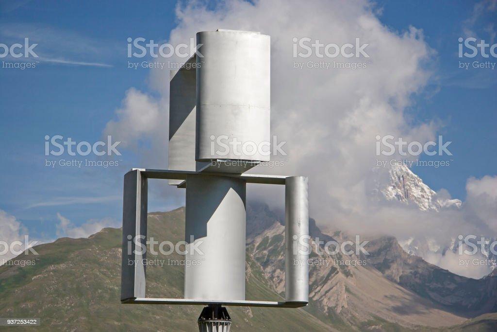 Unusual wind wheel stock photo