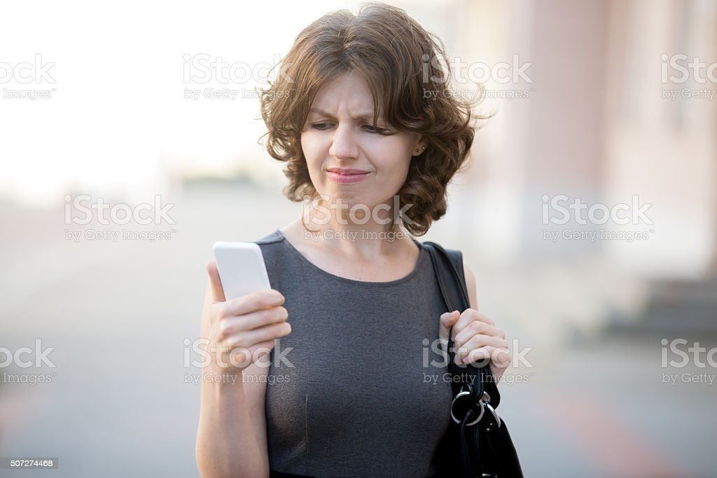 Unwanted phone call stock photo
