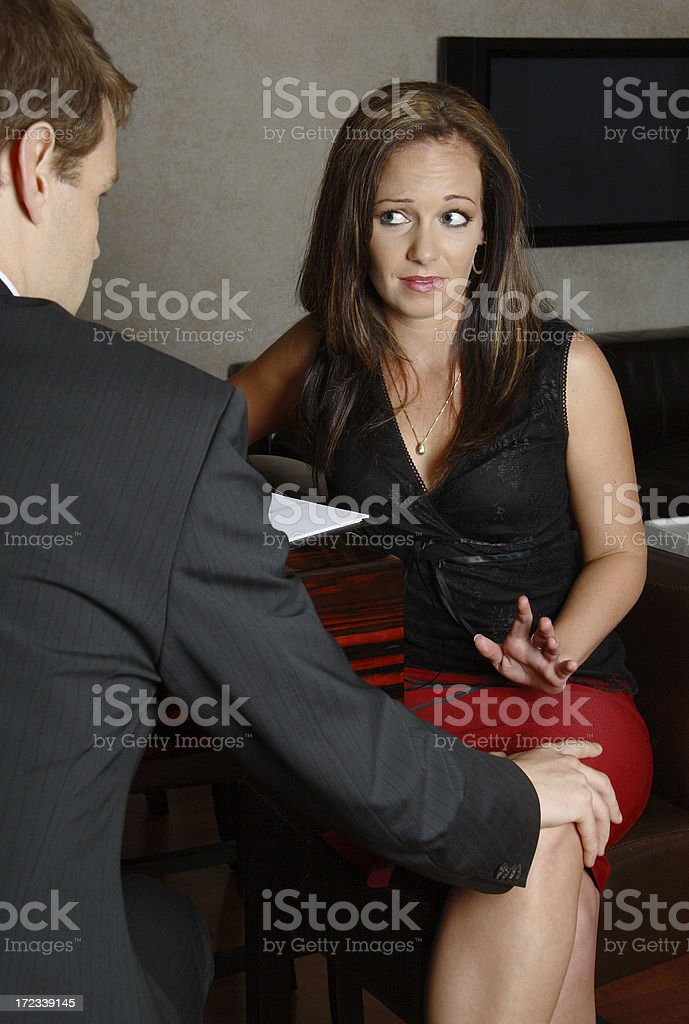 Unwanted Sexual Harassment stock photo