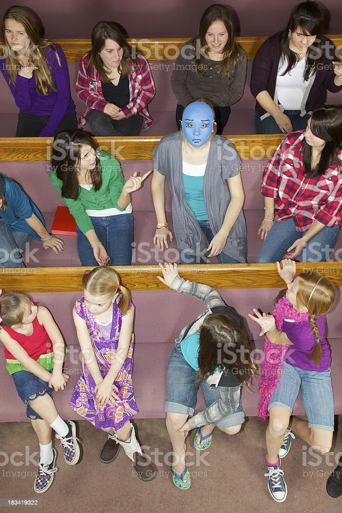 Unwelcome Visitor at Church stock photo