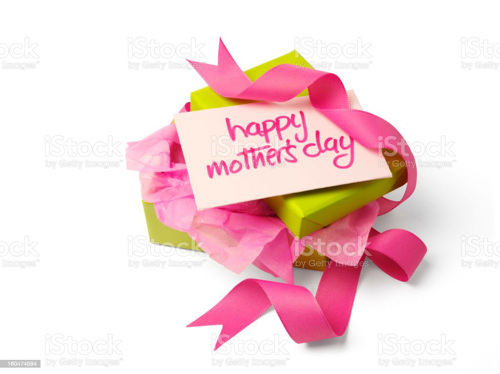 Unwrapped Gift for Mother's Day royalty-free stock photo