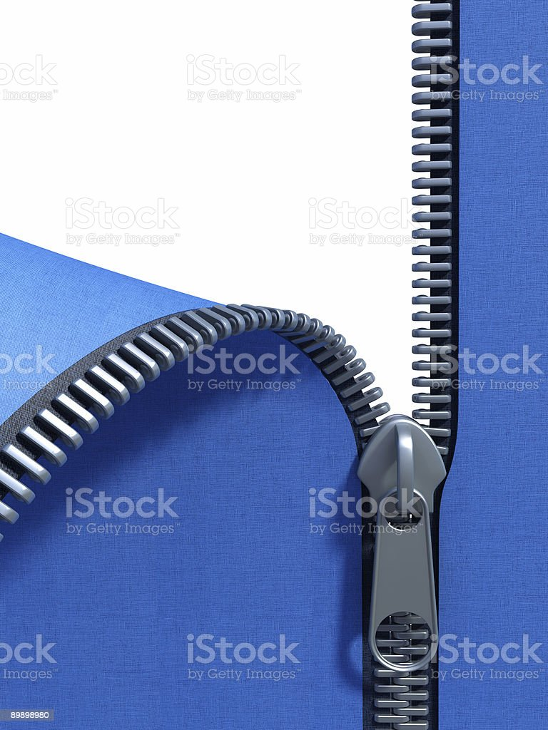 unzip fabric royalty-free stock photo