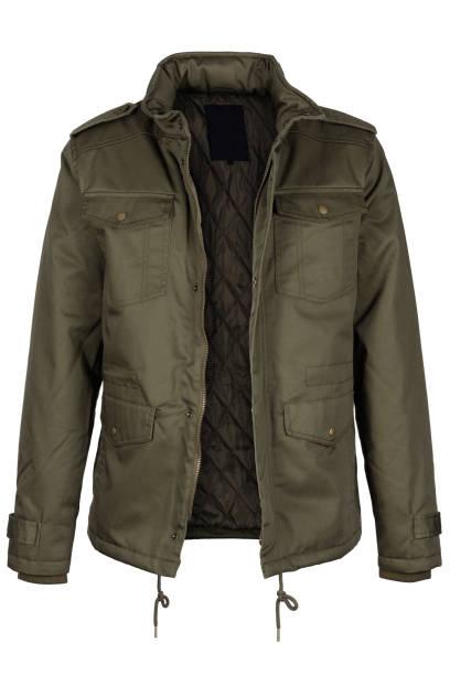 解壓縮的橄欖夾克 - 外套 個照片及圖片檔