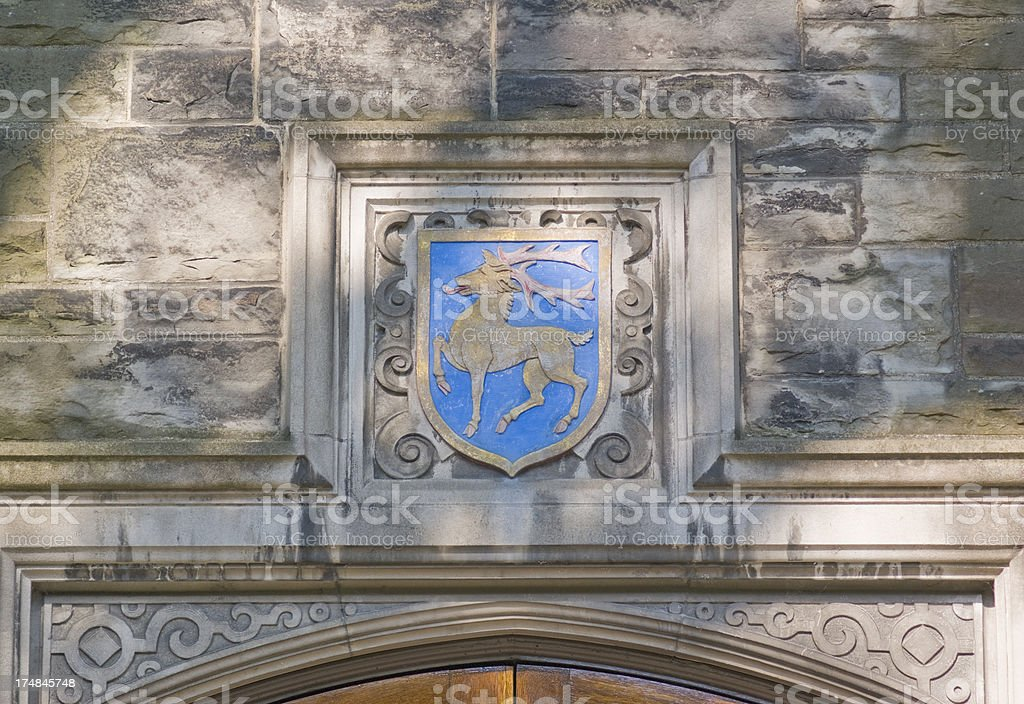 UofT - decorative cornice -caribou royalty-free stock photo
