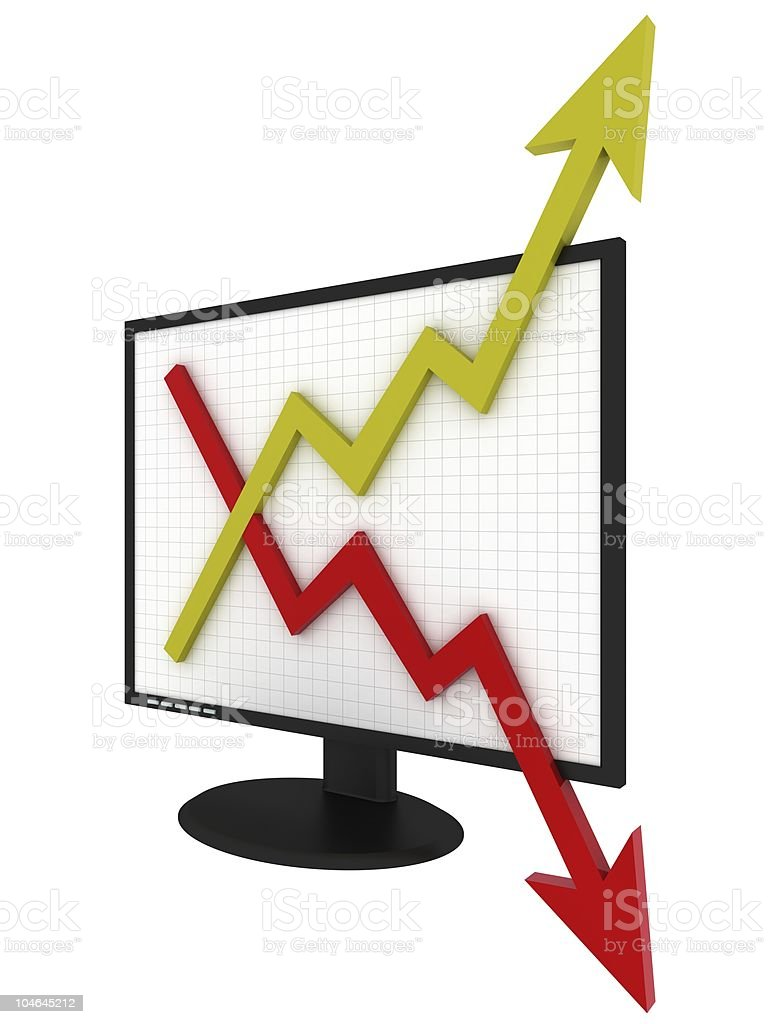 Up and Down Charts royalty-free stock photo