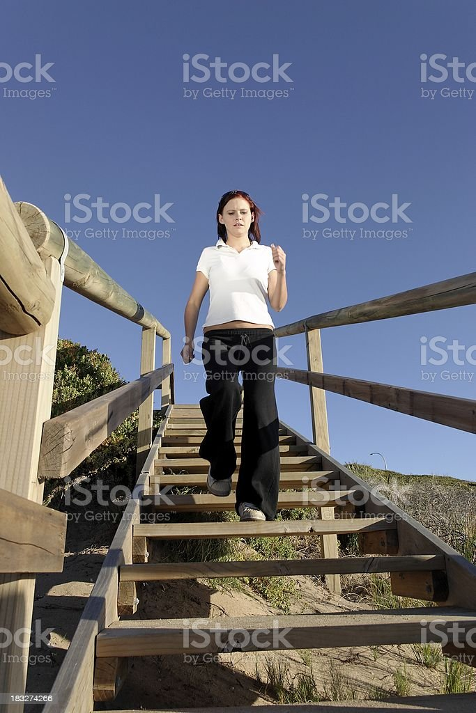Up and down the stairs royalty-free stock photo
